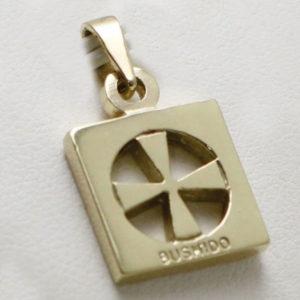 9ct Gold Bushido Cross Thick