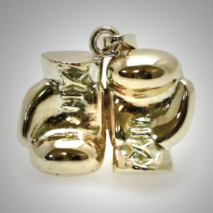 9ct-Gold-Boxing-Glove-Pair-Joined-Reversed-Old-School