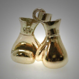 9ct Gold Boxing Glove Pair Medium Joined Reversed Pendant 2