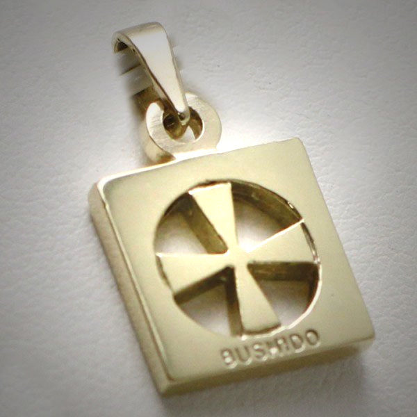 Beautifull designed 9ct gold bushido cross thick in solid gold 9ct gold bushido cross thick aloadofball