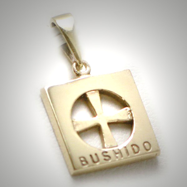 9ct solid gold bushido cross thin 9ct gold bushido cross thin aloadofball