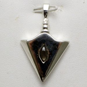 Sterling Silver Arrowhead Black Star Sappire