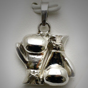 Sterling Silver Boxing Glove Pair Joined