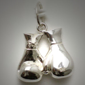 Sterling Silver Boxing Glove Pair Joined Reversed