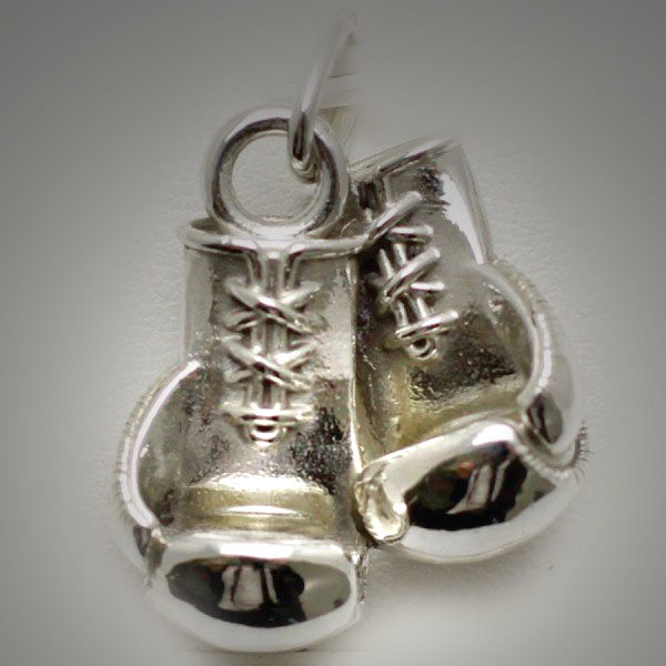 Sterling Silver Boxing Glove Pair Modern