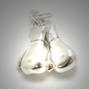Sterling Silver Boxing Glove Pair Separated