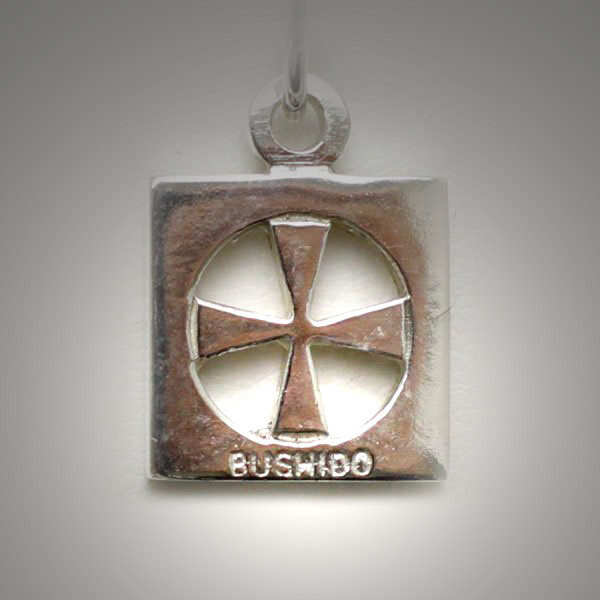 Sterling silver bushido cross thick aloadofball