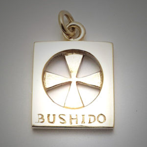 Bushido Cross 9ct Yellow Gold Large