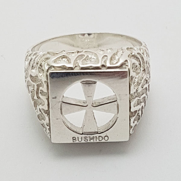 Bushido Cross Ring in Sterling Silver or 9ct Gold (T)