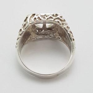 Bushido Cross Ring Sterling Silver