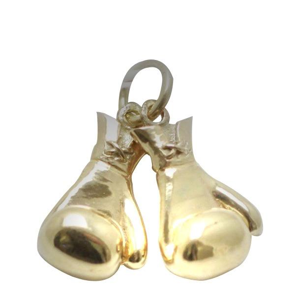 9ct Gold Boxing Glove Pair Medium Separated