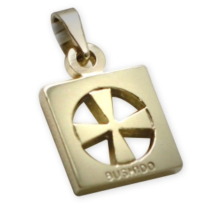 9ct Gold Bushido Cross Thick 1
