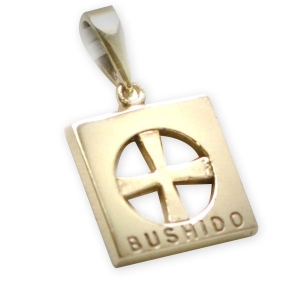 9ct Gold Bushido Cross Thin