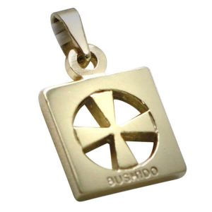 9ct Gold Bushido Cross Thick
