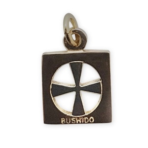 Bushido Cross 9ct - 2 Tone Yellow and White Gold