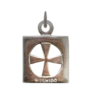 Sterling Silver Bushido Cross Thick