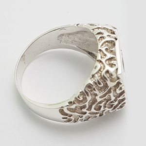 Bushido Cross Ring in Sterling Silver or 9 ct Gold